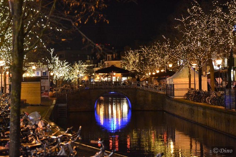 my hometown by night by dinovdkerkhof