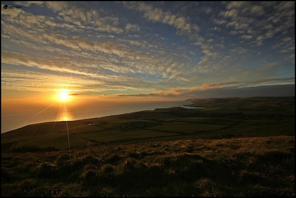 Sunset from Swyre head by Gareth James
