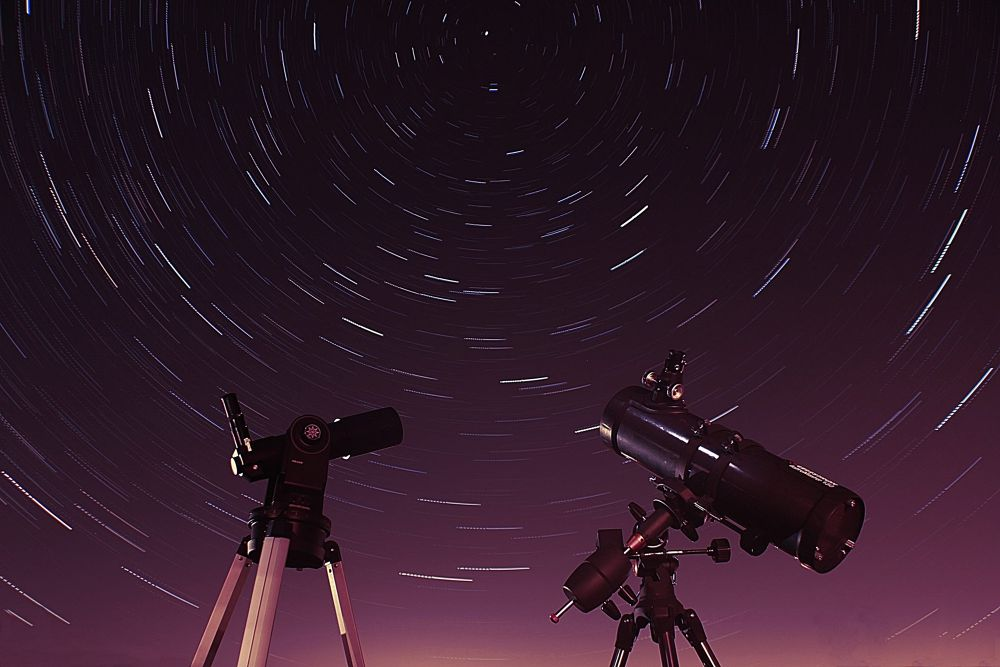 Startrails and telescopes by Gareth James
