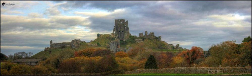 Corfe Castle in Autumn by Gareth James