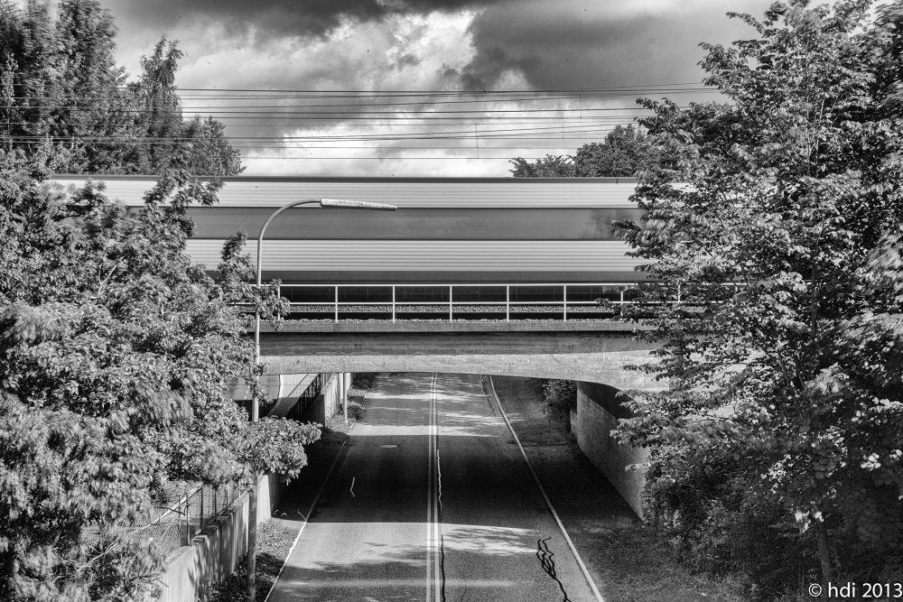 train on bridge by weaksyntax
