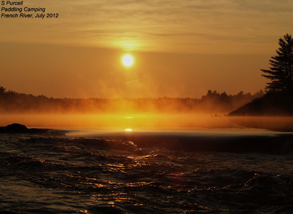 Morning glow on the French River  by Sean Purcell