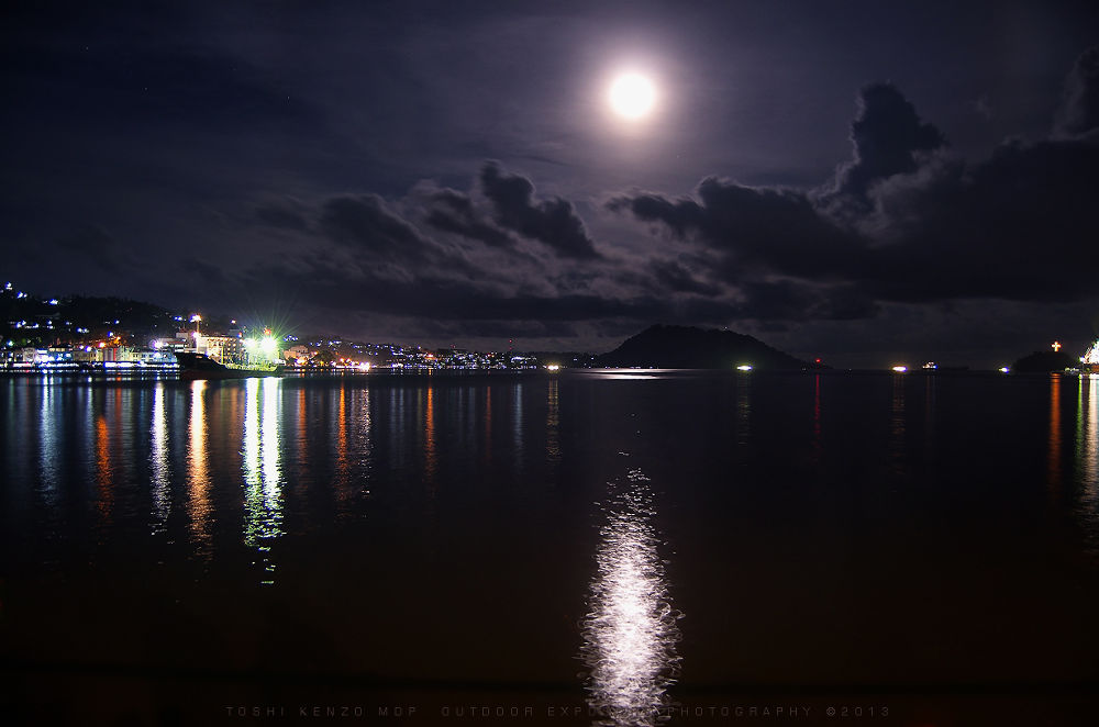 Full Moon On Humboldt Bay by TOSHI KENZO MDP™