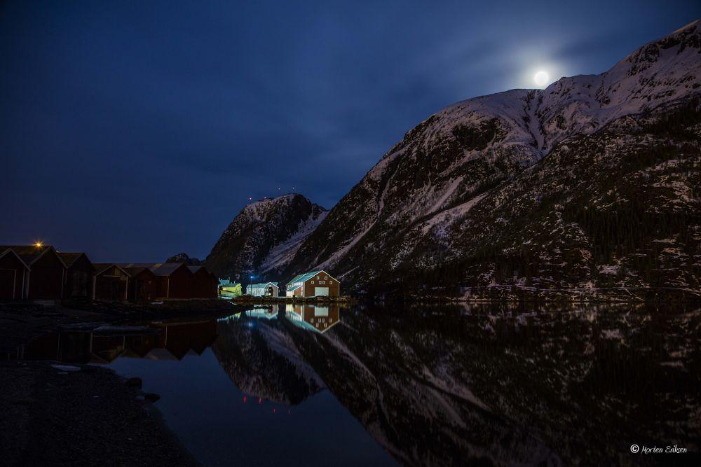 Moon over Mountain by Morten Eriksen