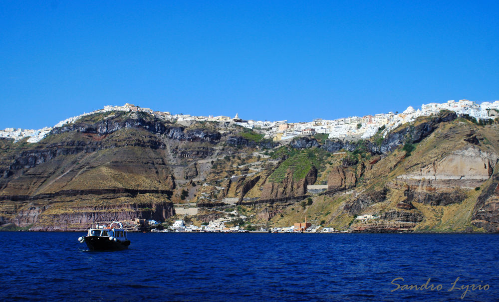 Santorini From Below by SandroLyrio
