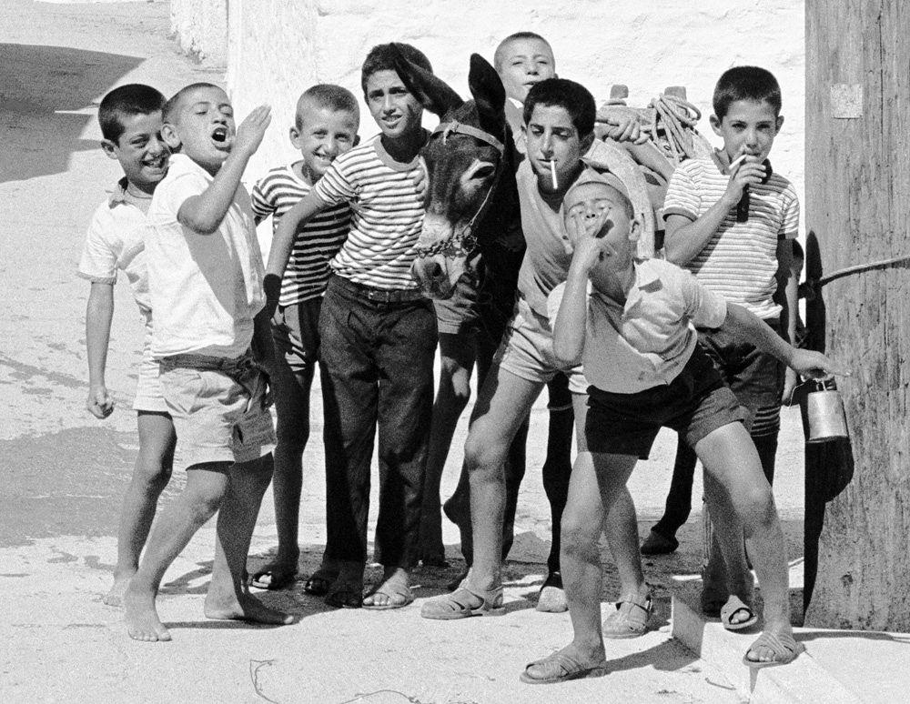 Photo in Black and White #kids #children #rural #playful #children playing #backstreet