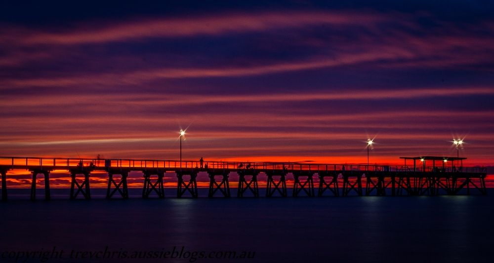 Stunning sunset at Largs Bay by Trev & Chris Barre