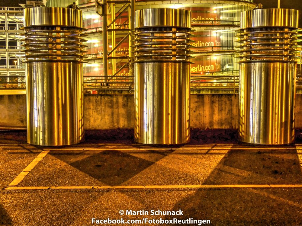 Stuttgart by Night Airport by Martin Schunack