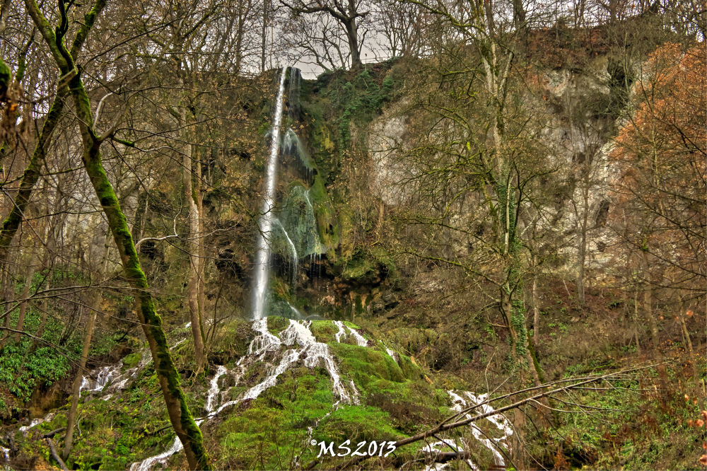 Waterfall Bad Urach by Martin Schunack