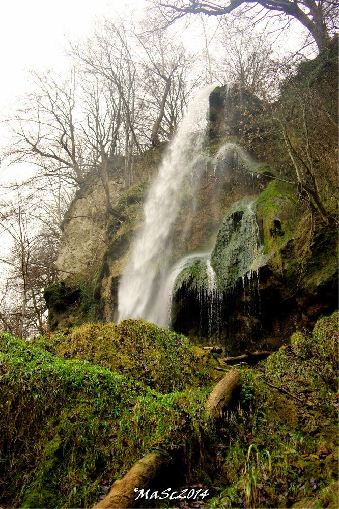 Waterfall Bad Urach by Martin Schunack