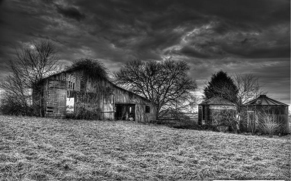 Barn B&W Bargarsville, Indiana by David W. Scott