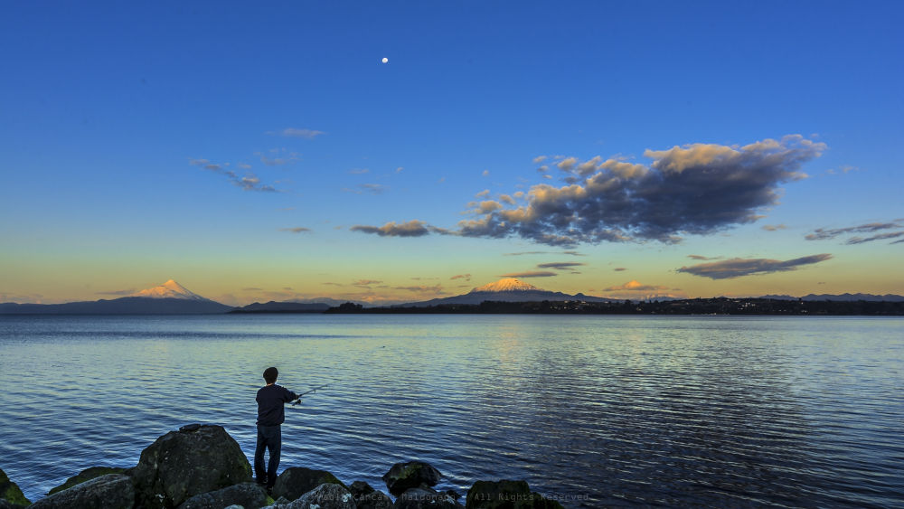 Fishing in Puerto Varas, Chile. by PabloCarcamoM