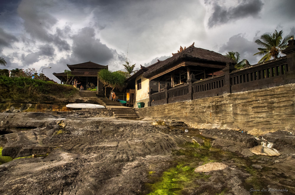 Temple at Tanah Lot, Bali by simoncklee