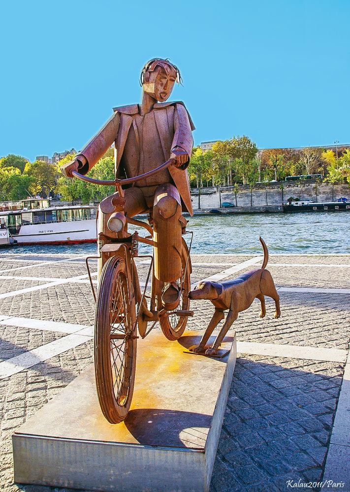 Man & dog by Kalau