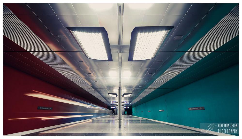 Photo in Architecture #subway #munich #münchen #wettersteinplatz #architecture #long exposure