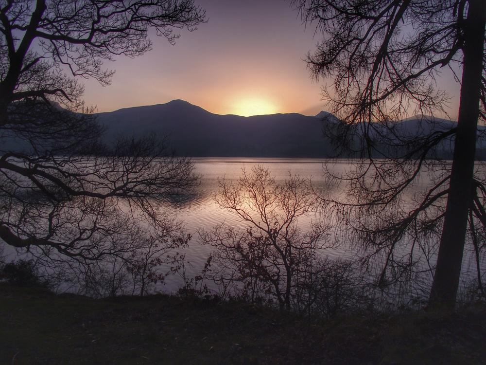Photo in Landscape #landscape #sunset #lake district #cumbria #keswick