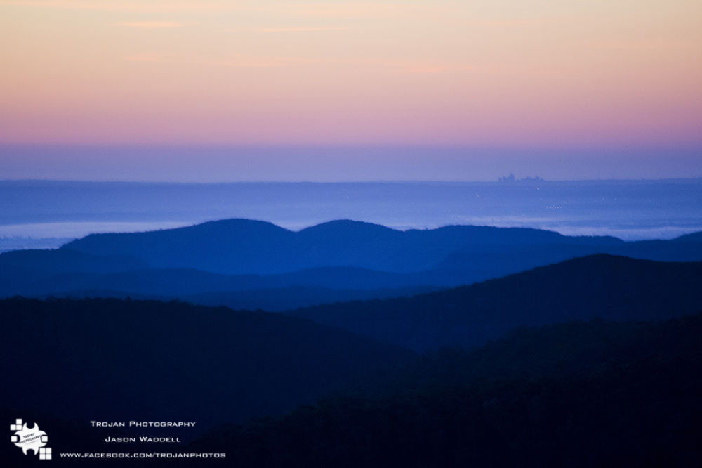 Blue mountains sunrise by Jason Waddell