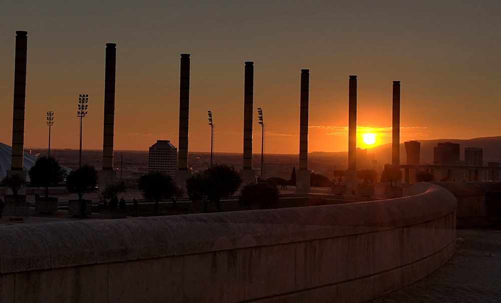 Beautiful sunset view from Barcelona stadium. by soosmoos