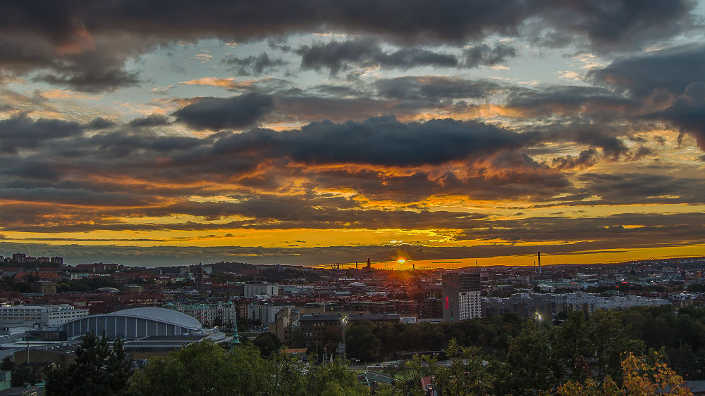Sunset over Gothenburg by Anders Mac