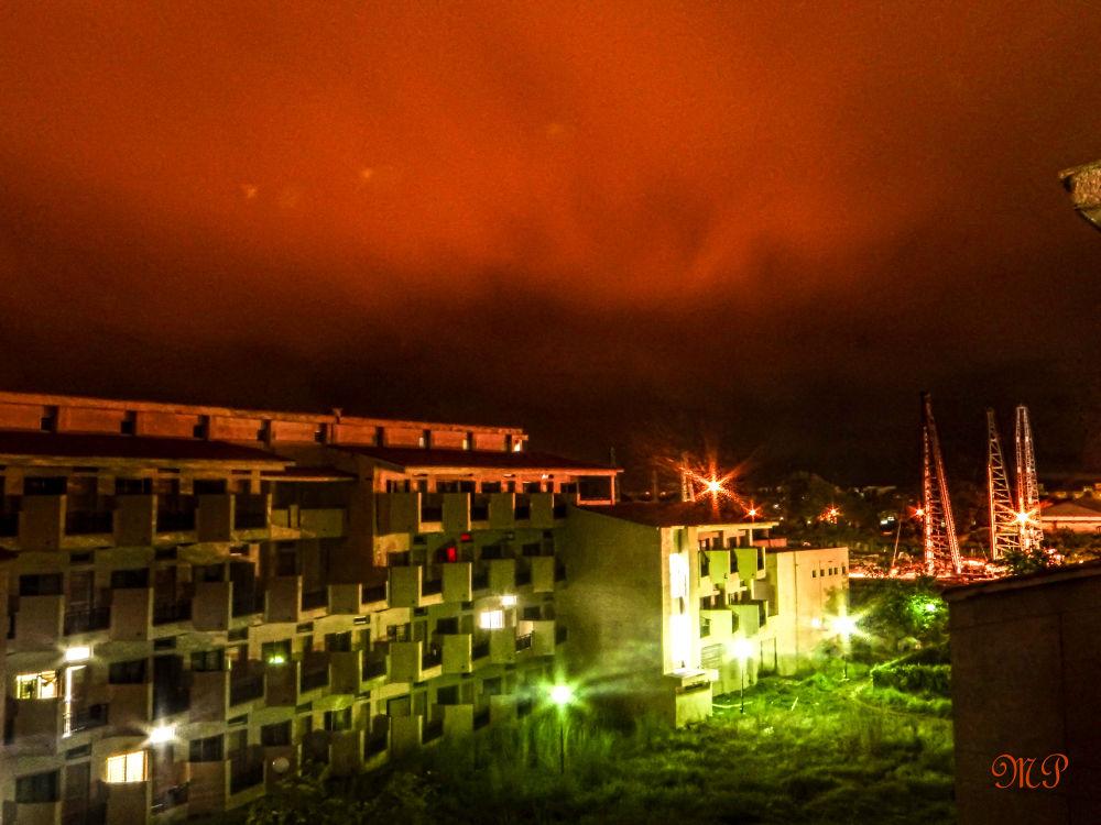 The red sky by Man Parvesh Singh Randhawa