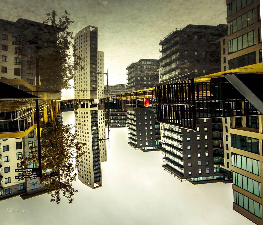 Odd Reflection. Clarance Dock Leeds. by paulzdanowicz