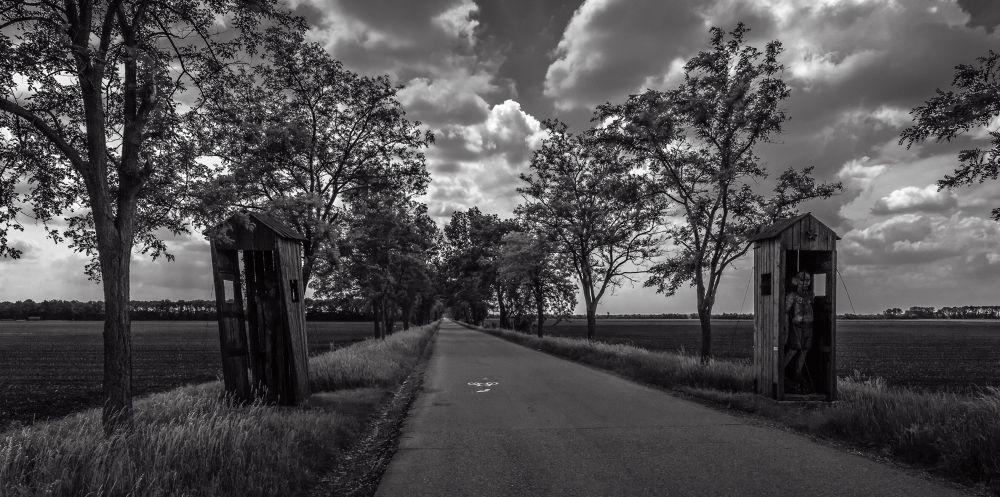 """Road To Freedom"" (Fluchtstrasse), Andau, Austria by Richard Corkrey"
