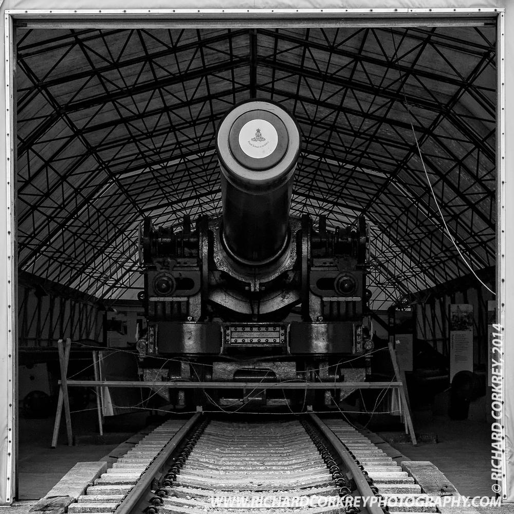 Railway Howitzer by Richard Corkrey