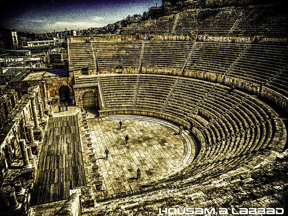 The Roman theater in Amman, Jordan by Husam Libad