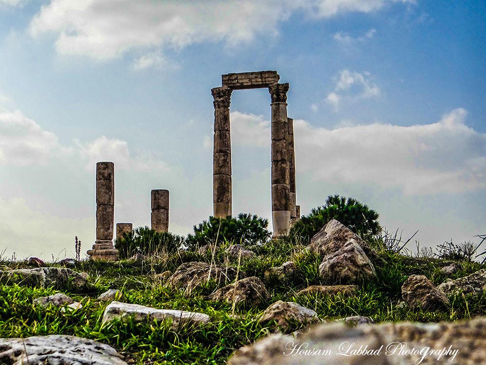 Photo in Travel #temple #hercules #amman #jordan #museum #roman