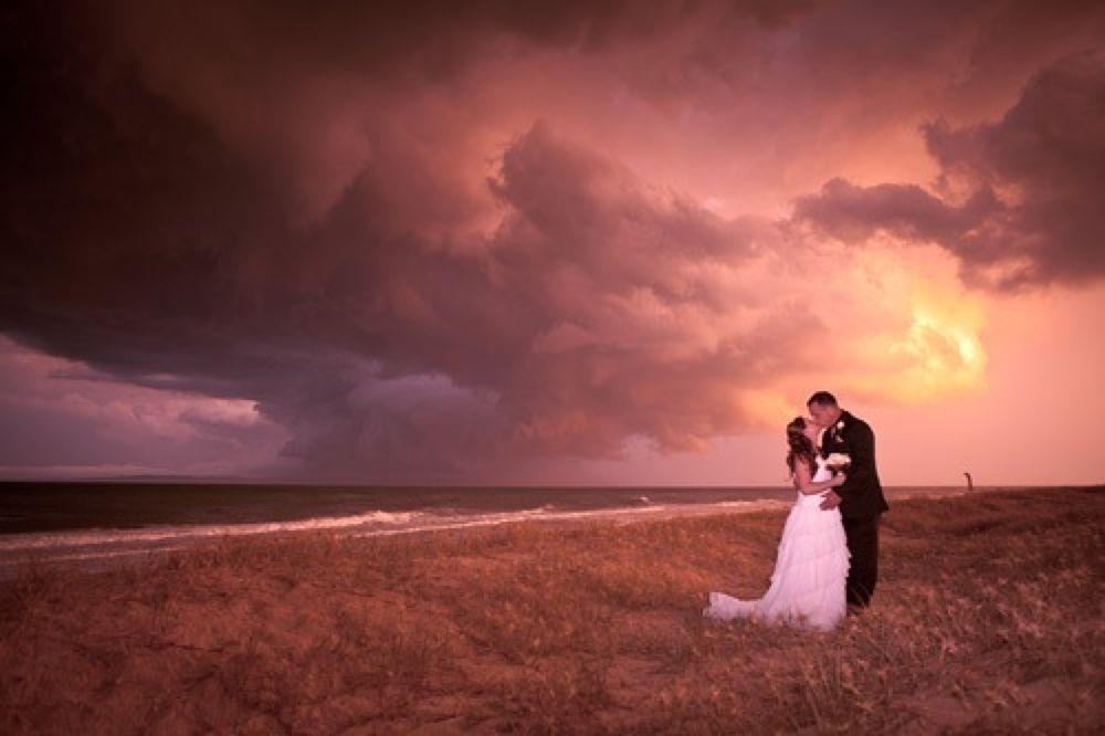 Chantel & Shane (beach storm) One by philipmitchell1000