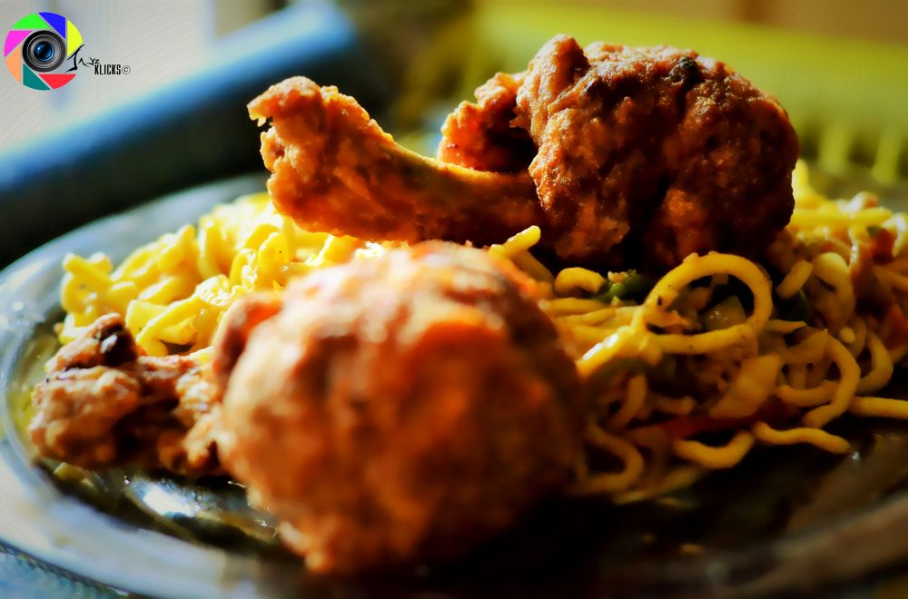 Photo in Food #food #chowmein #drumsticks #yummy #hungry #chinese