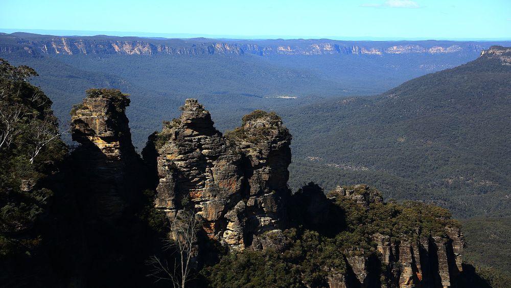 Photo in Landscape #blue #mountains #sydney #australia #canon #the #three #sisters #landscapes #natgeo #stones #rocks #trees #park #life #culture