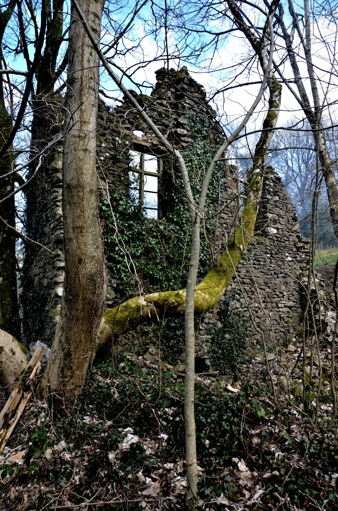 Spooky Derelict Building by Angie Rumble