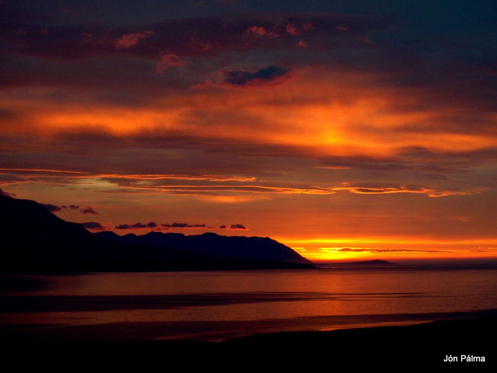 Eyjafjörður Iceland by Jón Pálmason