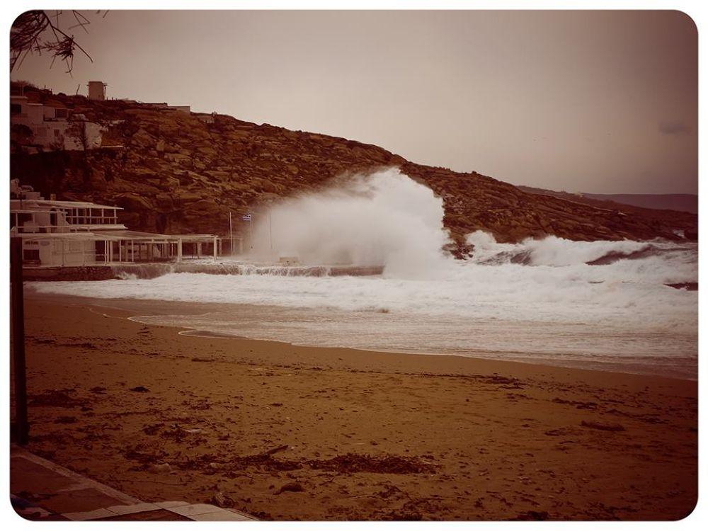 Windy Mykonos, Greece by lambriana