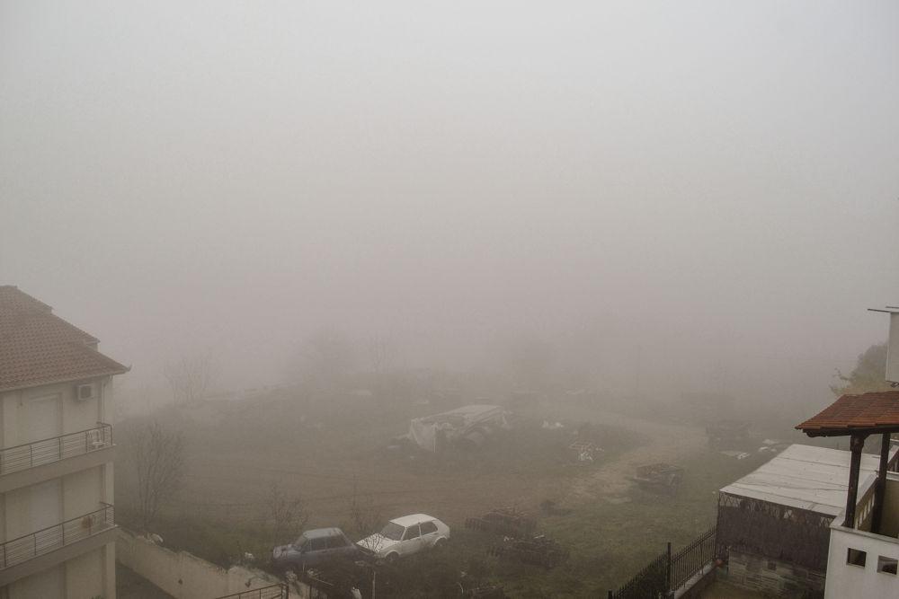 Fog everywhere/ Trilofos/ thessaloniki/ Greece by lambriana