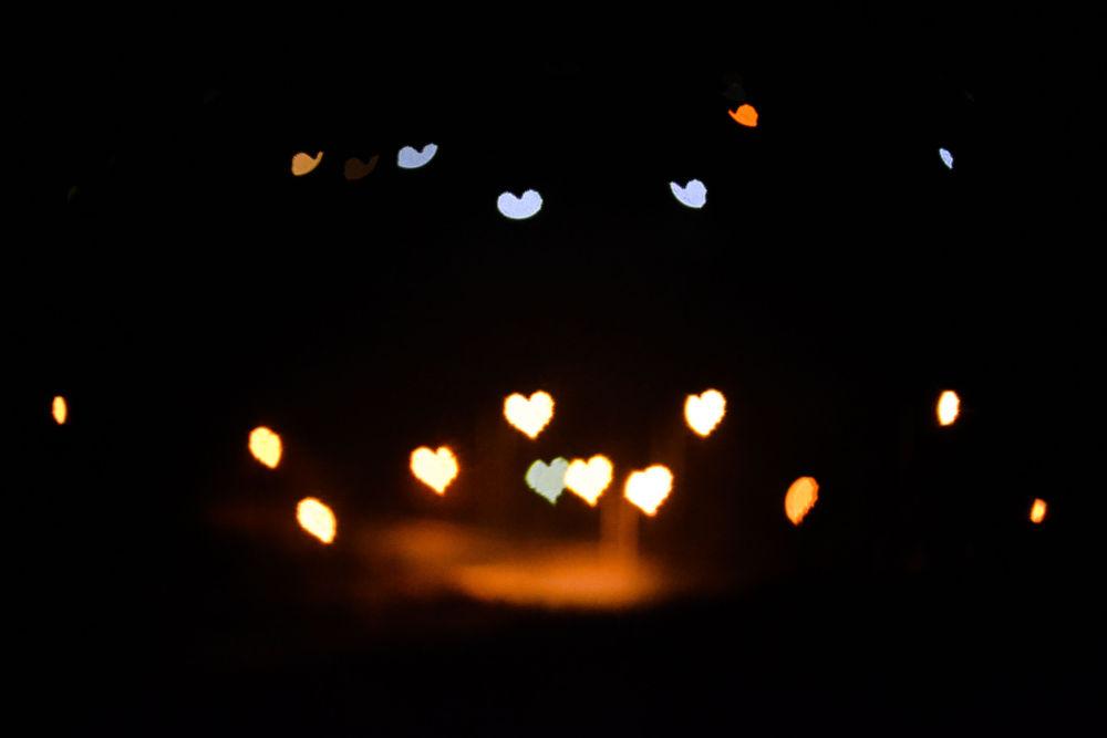 City lights / Bokeh heart by lambriana