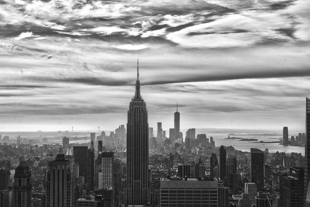 Photo in HDRI #hdr #rockefeller #nyc #empire state #b&w