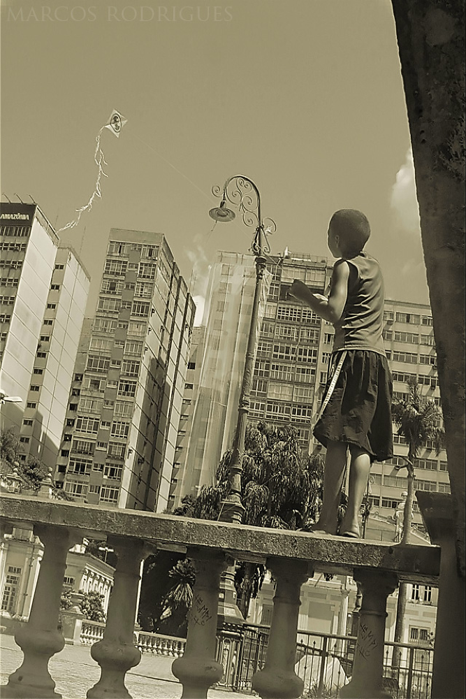 Photo in Urban #batman #child #sky #photography #photo #kite #sony #youpic