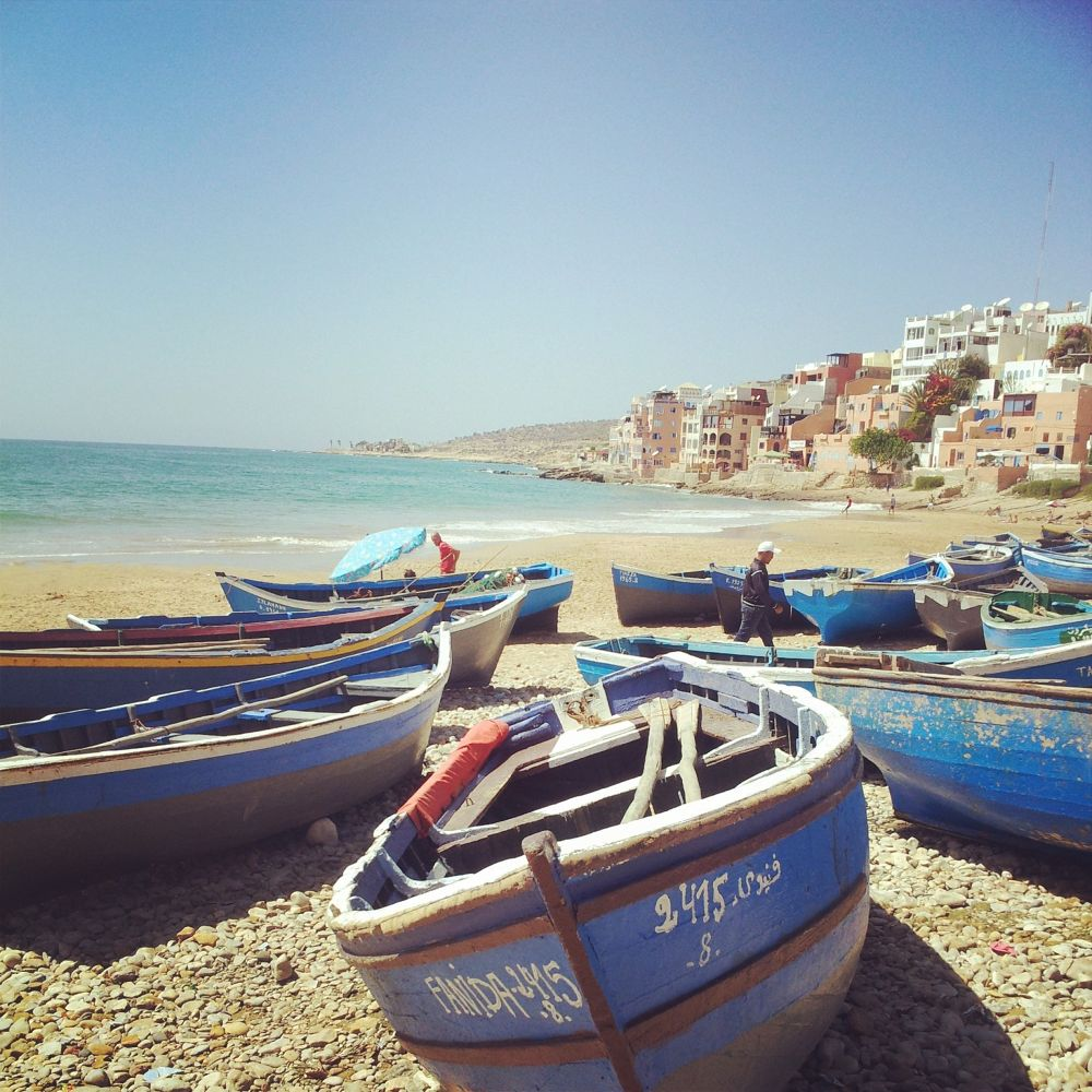 fishing Boat at taghazoute beach by Oussama Moursil