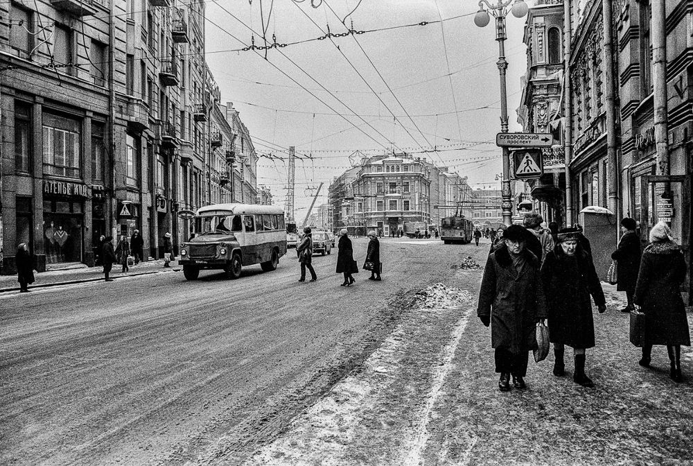 Street view from Leningrad by paraneva