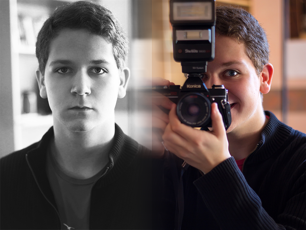Me, before and after the discover of photography by David Salobir