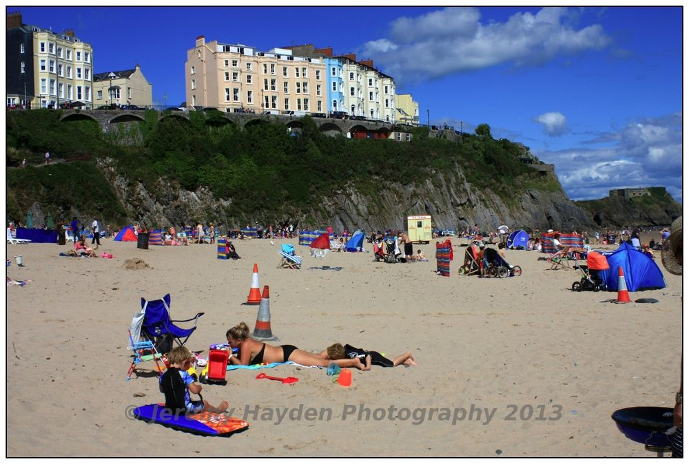 Tenby Summer Beach by jhaydenphotography