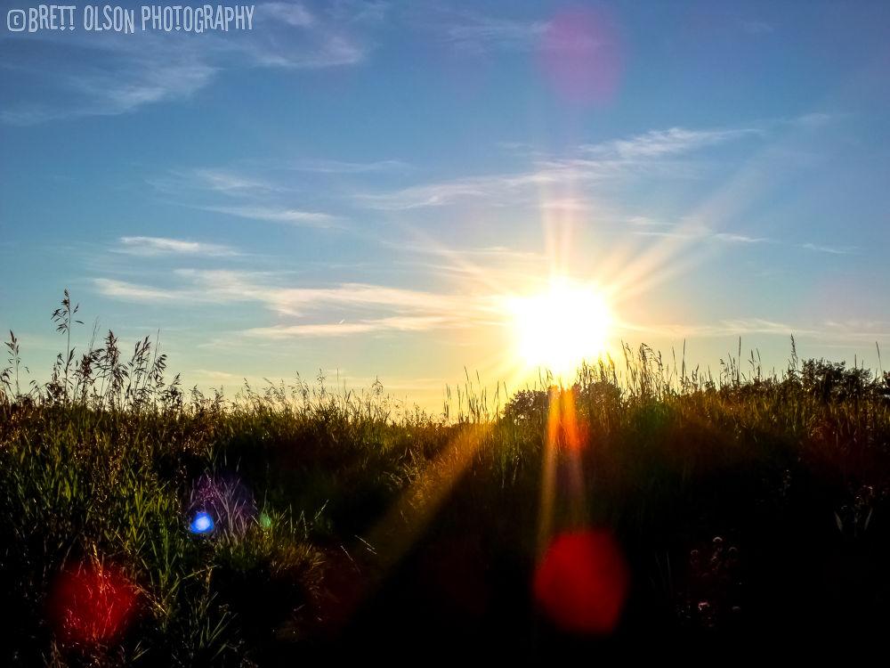 Sunset orbs by Brett Olson