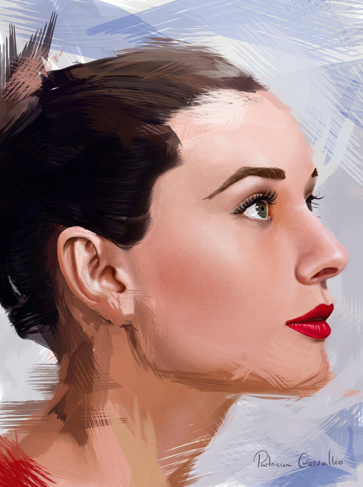 Audrey Hepburn digitalpaint by Patricia Carvalho