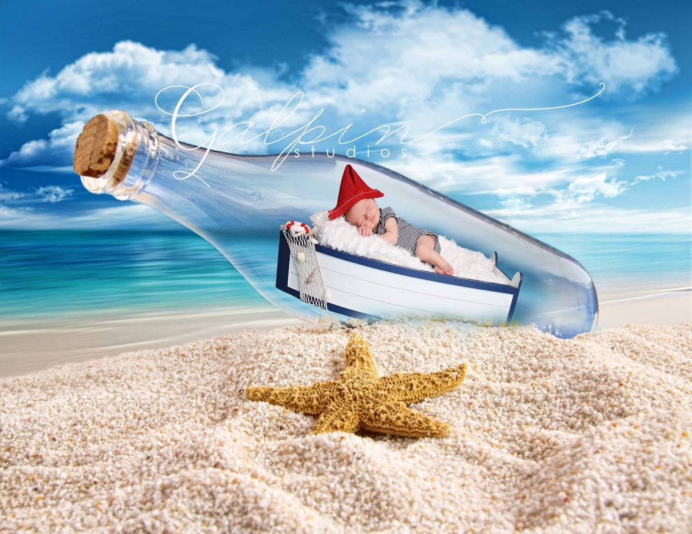 Message in a bottle  by Galpin Studios