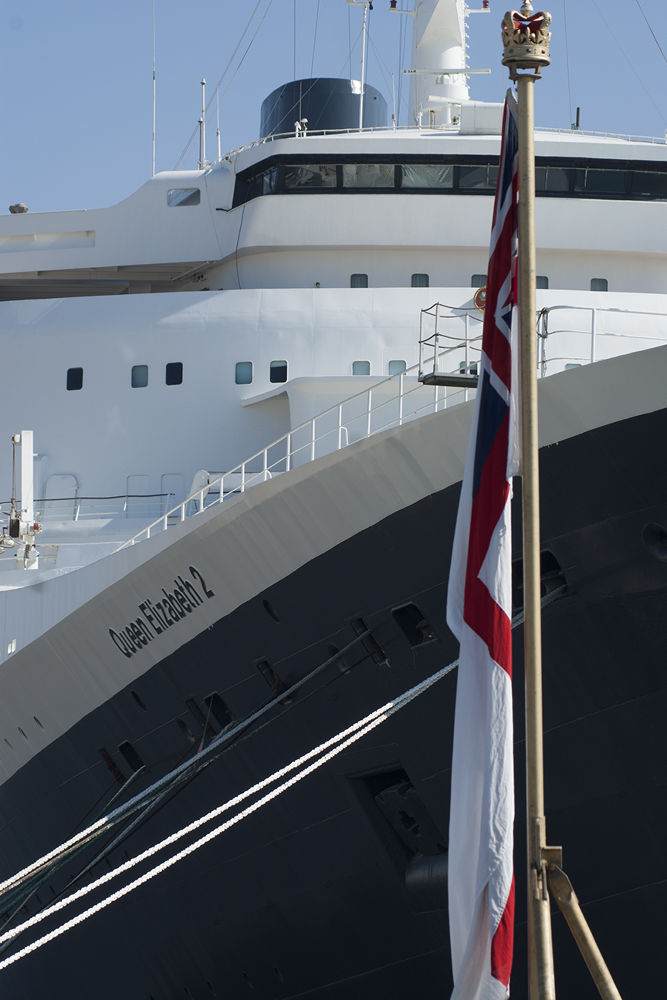 Royal Navy Ensign And QE2 by p2baa