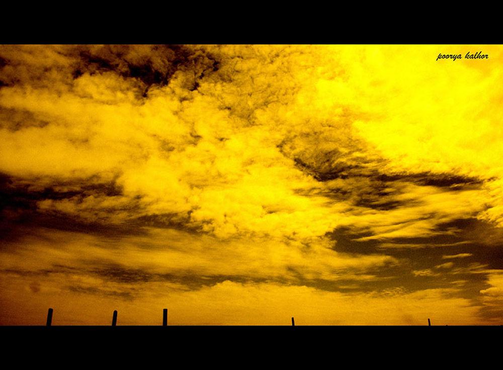 heavens burining down in fire... by Poorya Kalhor