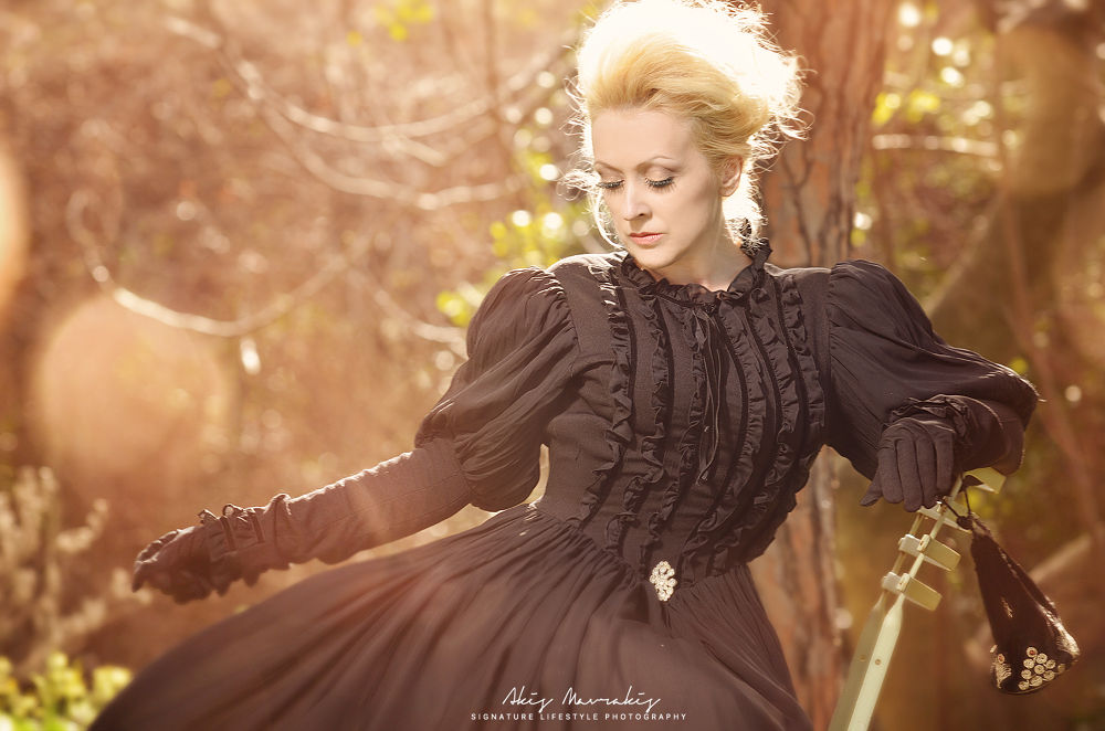 Photo in Fine Art #vintage #passion #dress #old #woman #fairytale #light #fashion #forest #girl