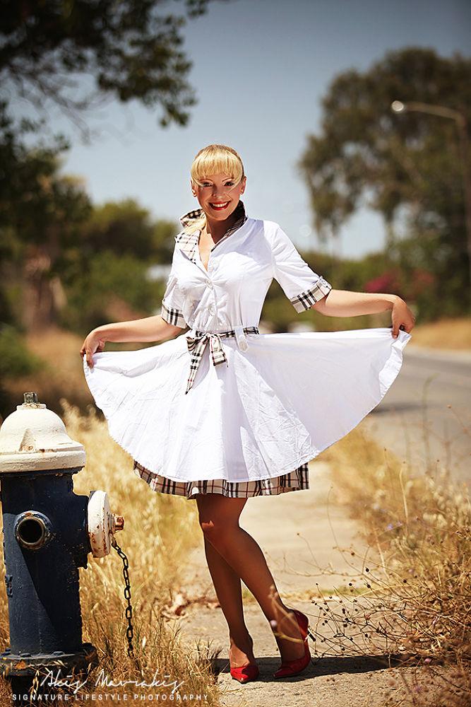 Photo in Vintage #rerto #vintage #50's #girl #sexy #dress #beauty #woman #fashion #magazine